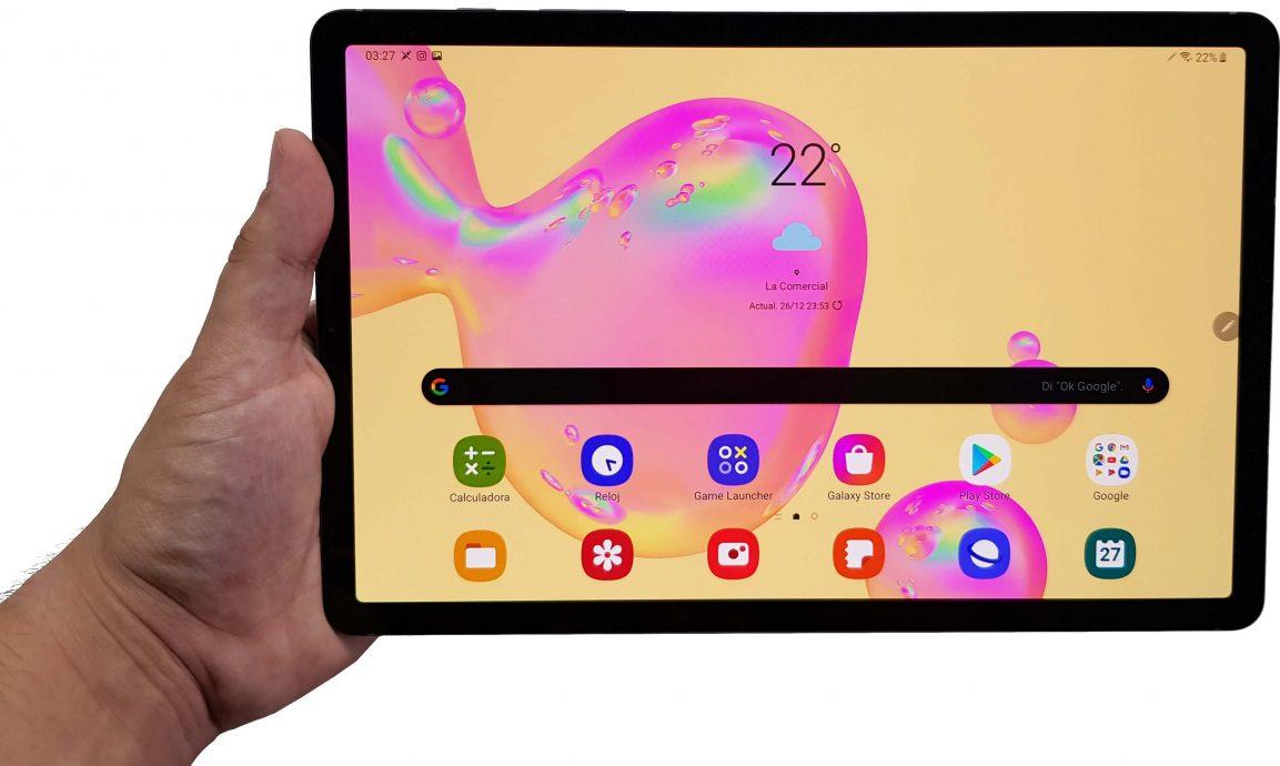 Vista frontal de la Samsung Galaxy Tab S6