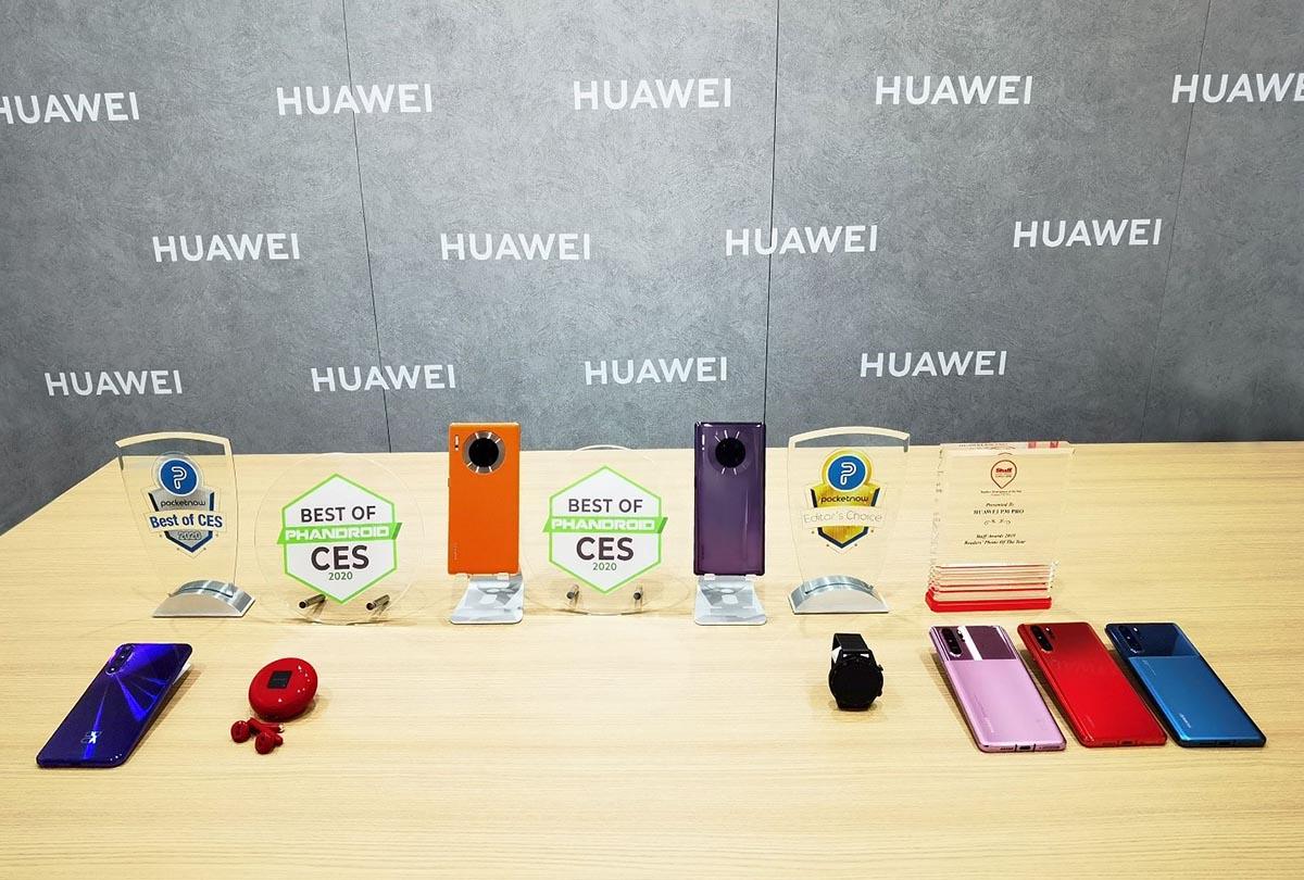 """Los teléfonos y dispositivos inteligentes de Huawei obtienen los premios """"Best of CES"""" y """"Editor's Choice"""" en CES 2020"""