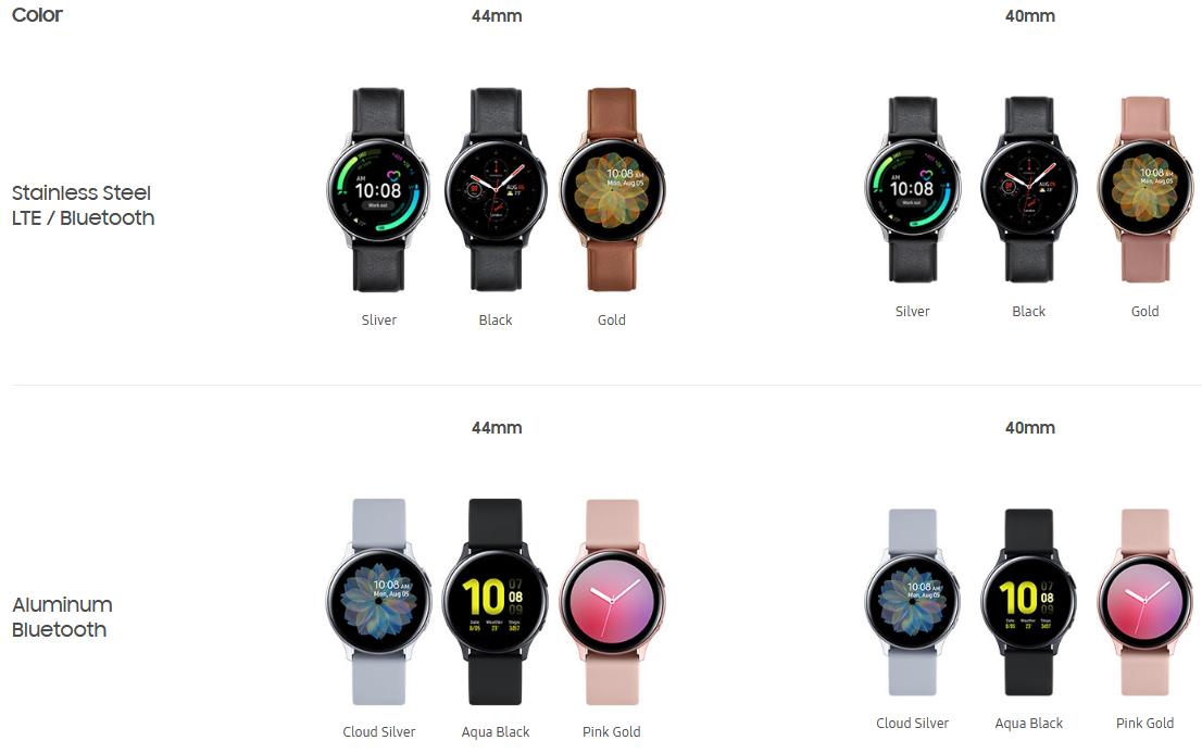 Samsung Galaxy Watch Active 2 en todos sus modelos