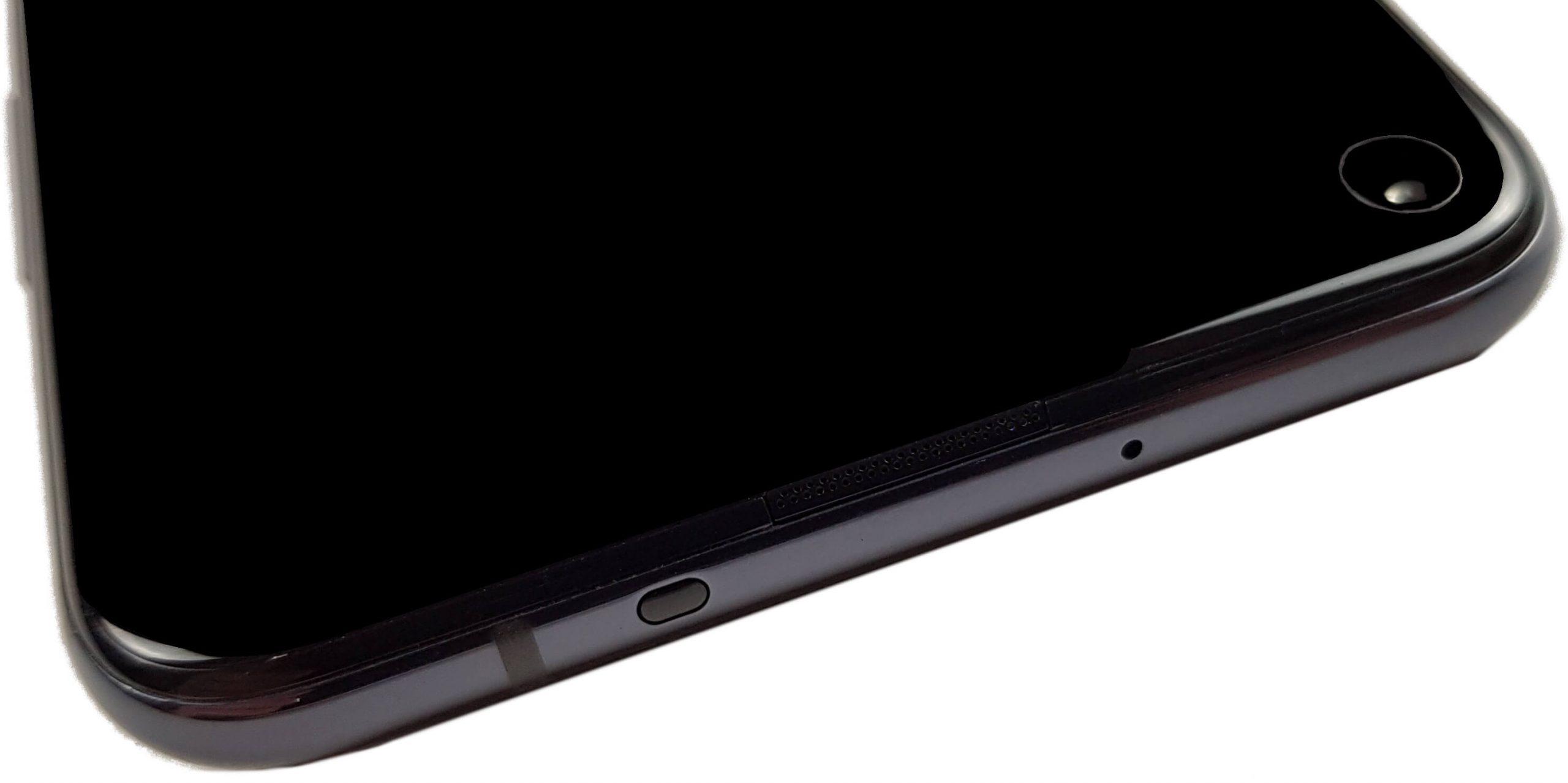 Huawei Nova 5T visto desde arriba.