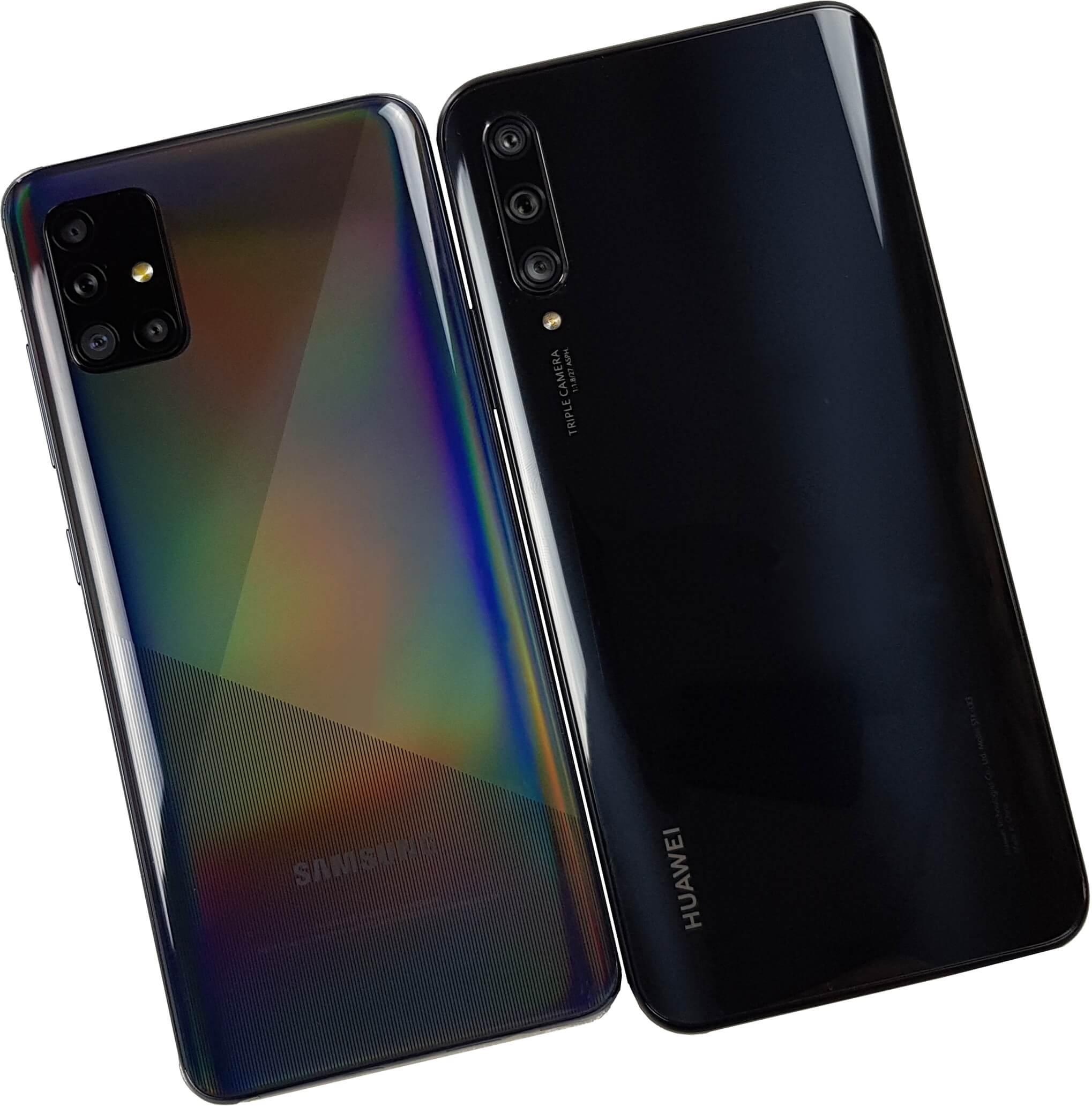 Comparativa: Samsung Galaxy A51 vs Huawei Y9s, aspecto trasero.