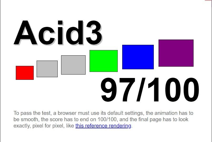 Test Acid3 para Microsoft Edge