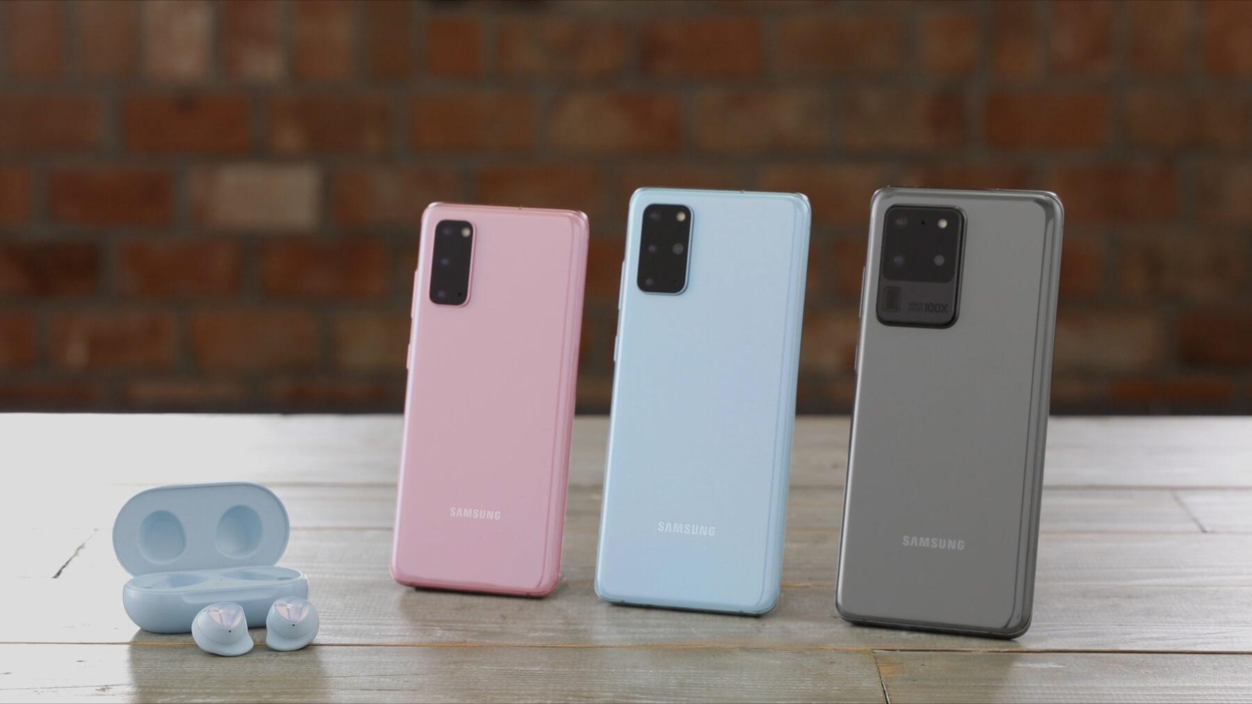 Galaxy Buds +, Galaxy S20, S20+ y S20 Ultra