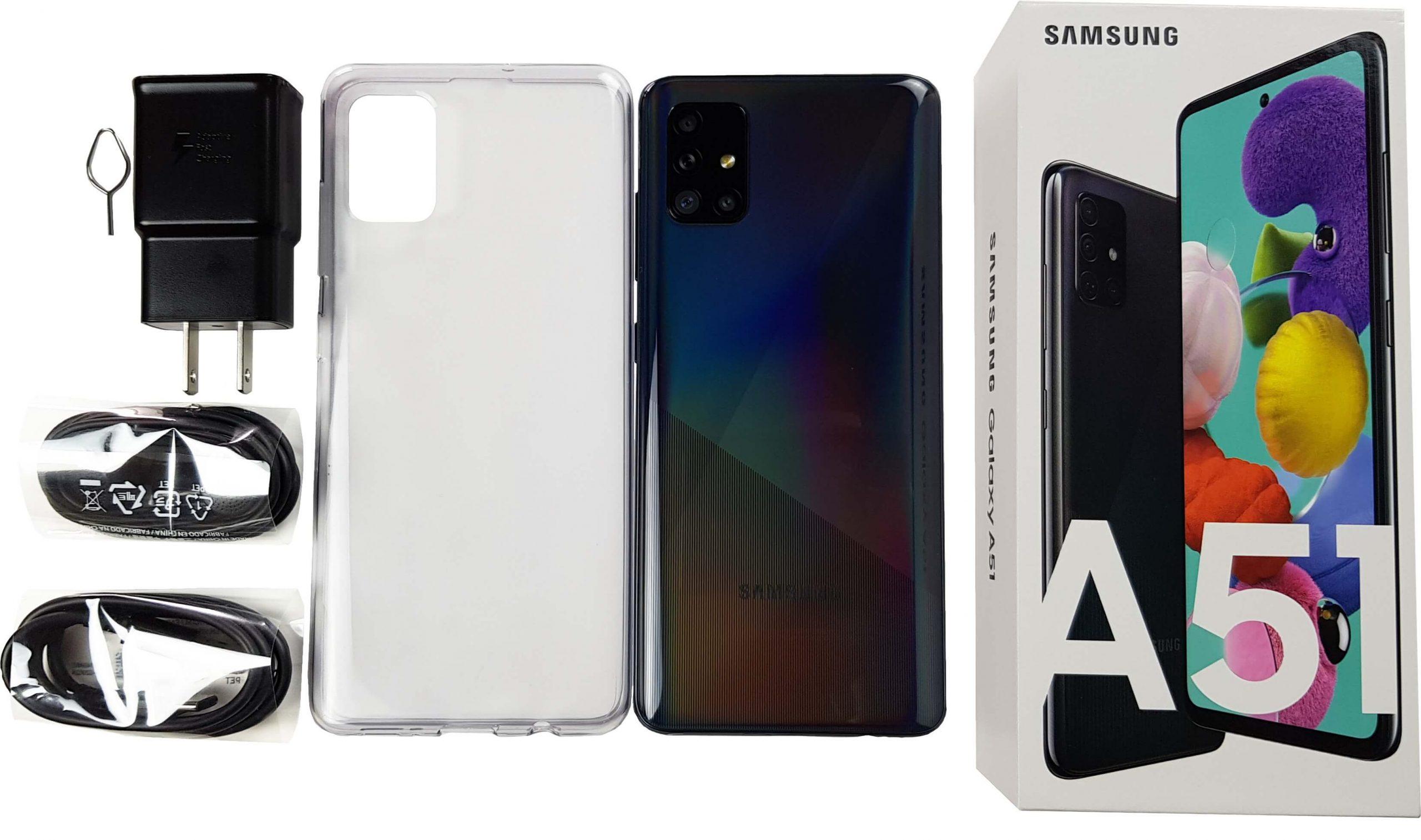 Todo lo que incluye el Samsung Galaxy A51 en su caja.