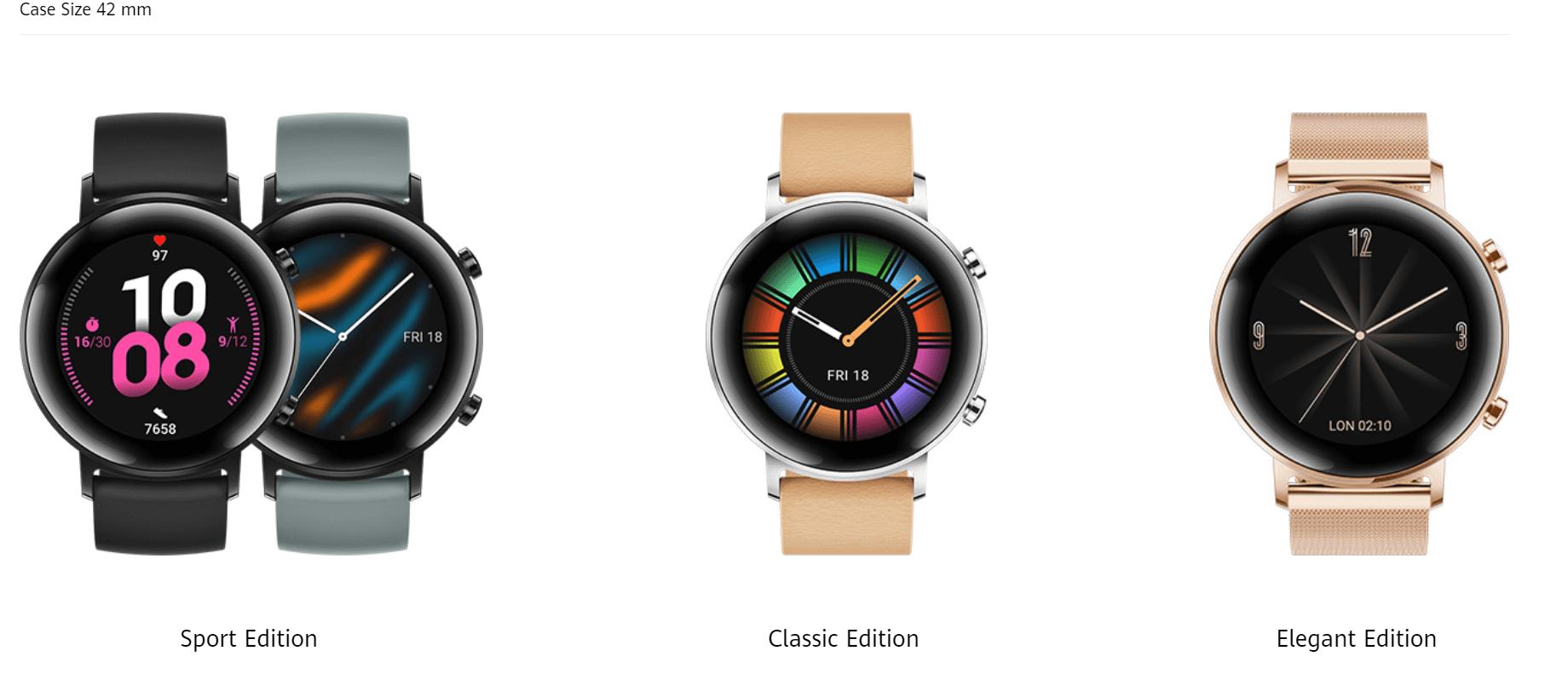 huawei watch gt 2 42mm versiones