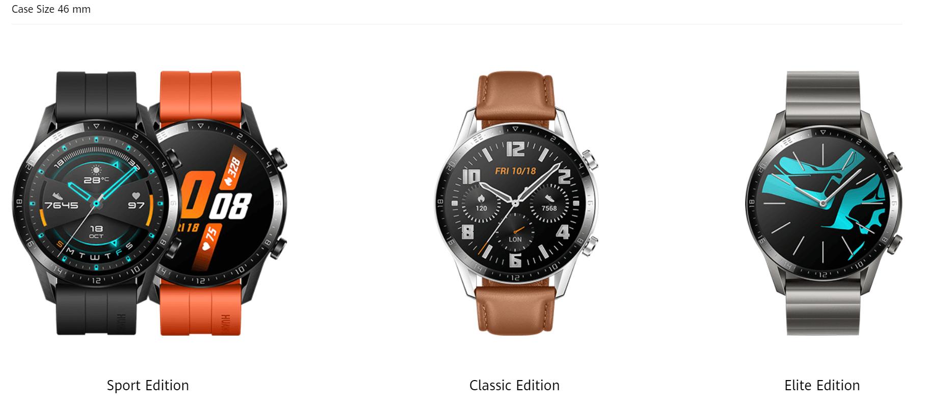 huawei watch gt 2 46mm versiones