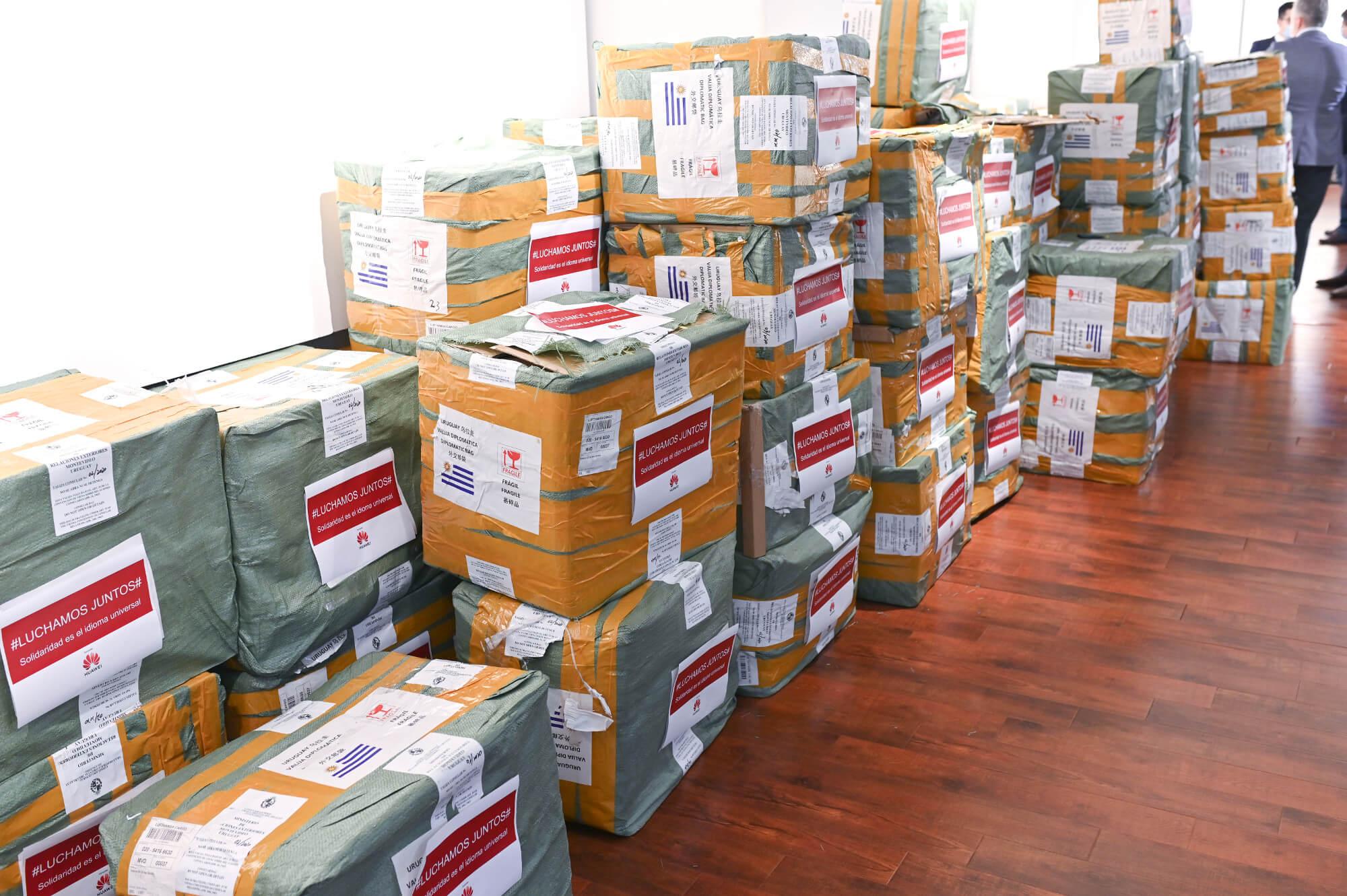 huawei donacion a uruguay coronavirus