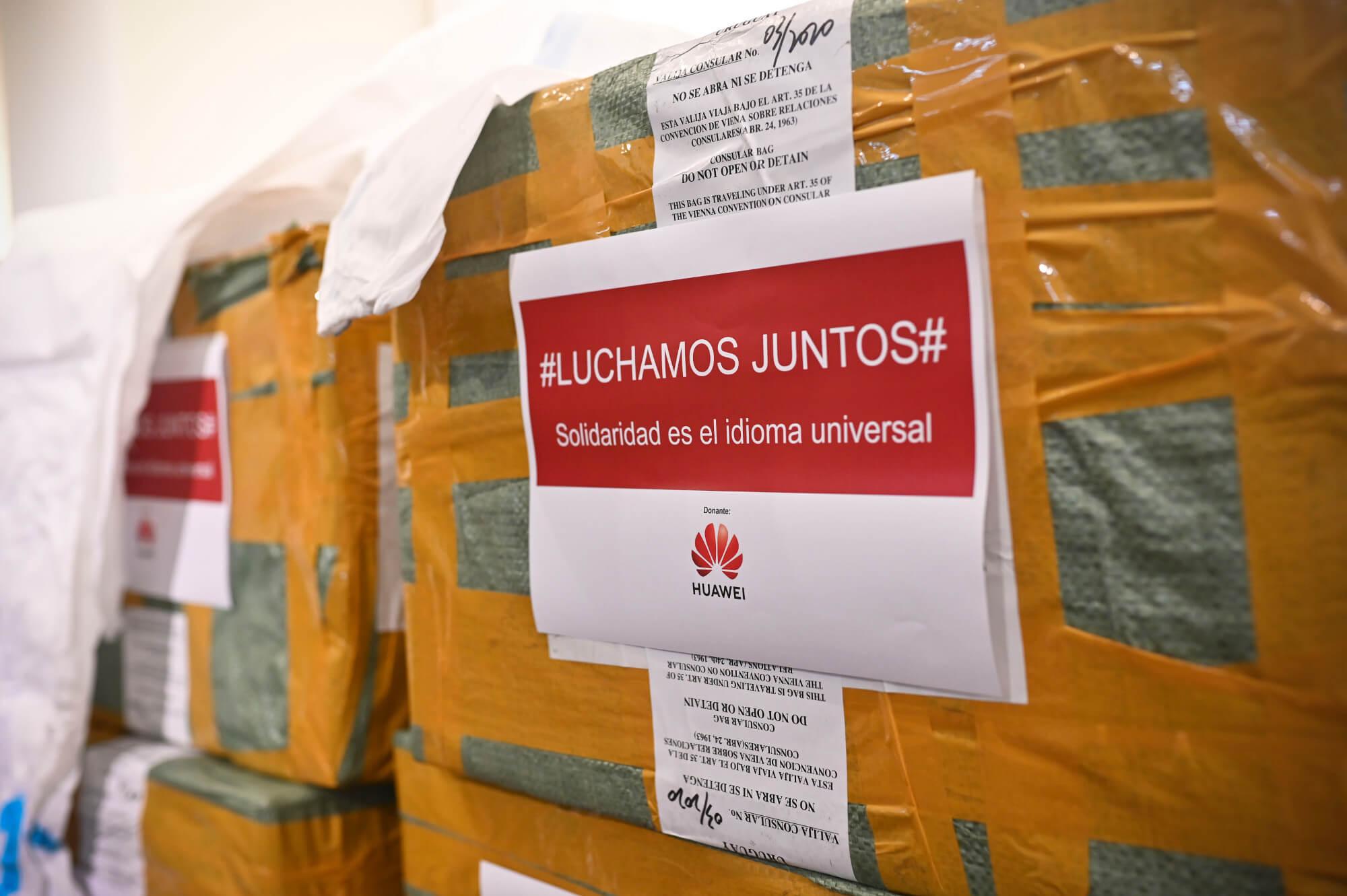 Huawei Uruguay realizó una gran donación de insumos médicos al Ministerio de Salud Pública para enfrentar el COVID-19