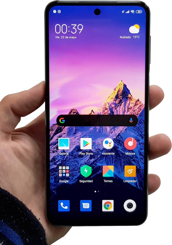 Vista frontal del Redmi Note 9S
