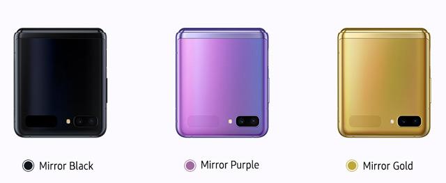 Los colores del Z Flip son muy llamativos.