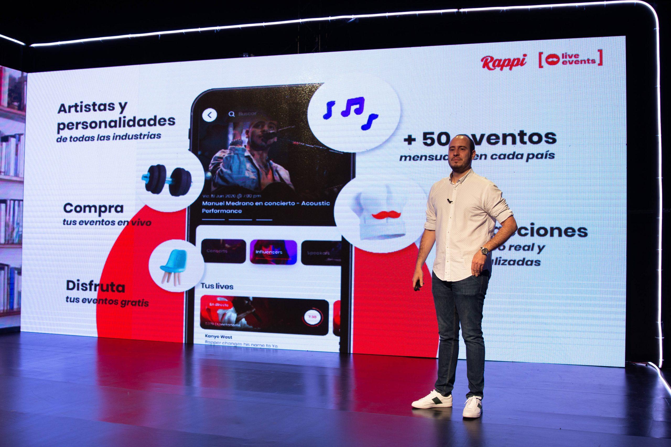 Rappi lanzó su servicio de Entretenimiento