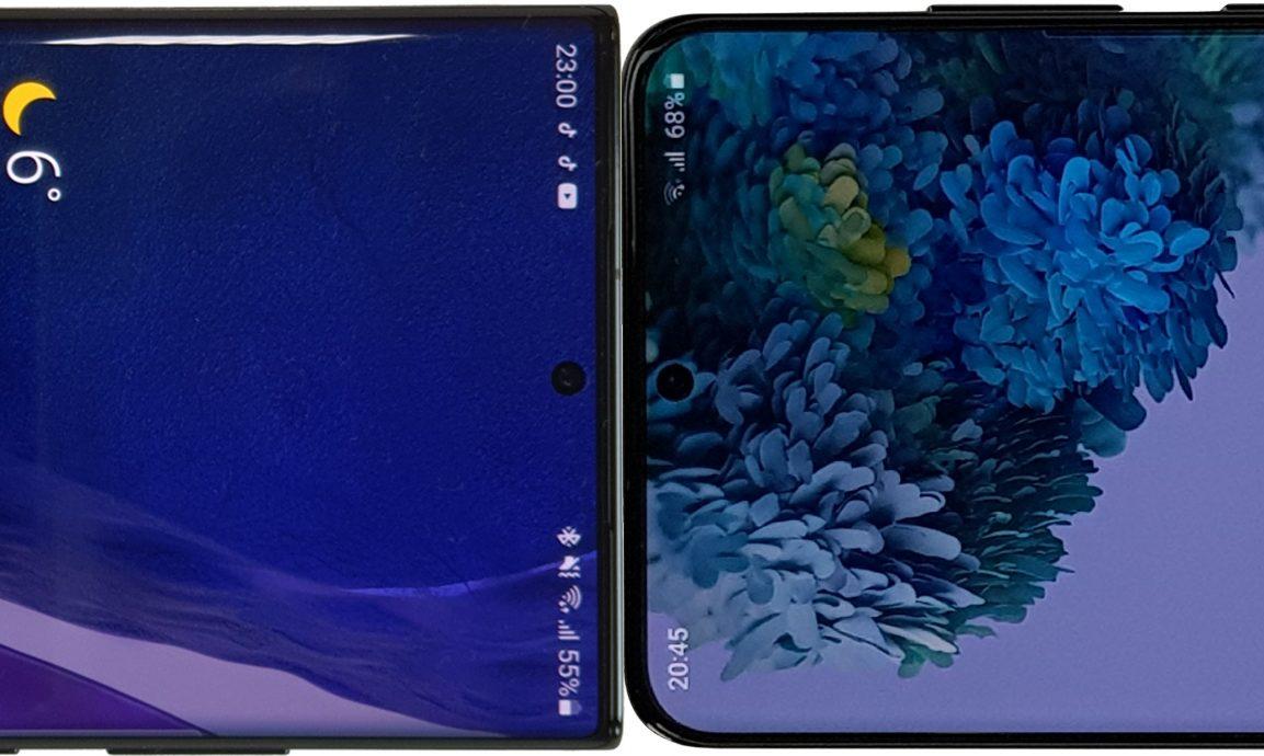 Comparativa: Samsung Galaxy Note 20 Ultra vs Galaxy S20 Ultra