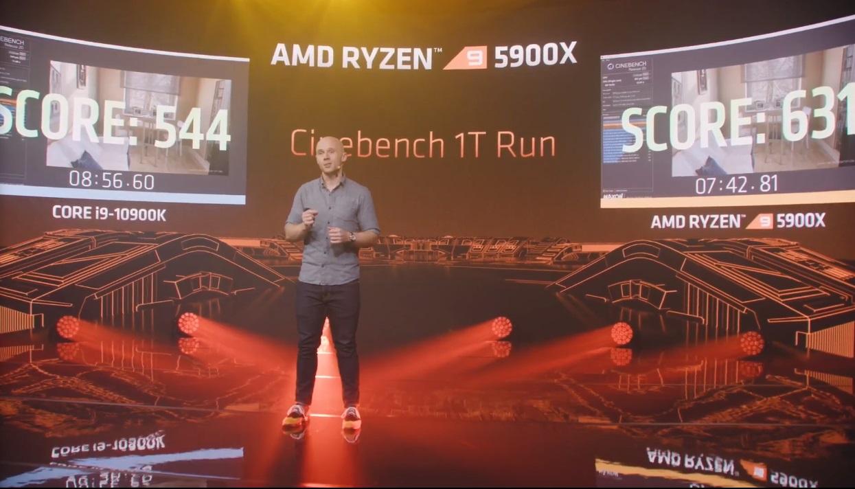 AMD Ryzen 5000 en Cinebench