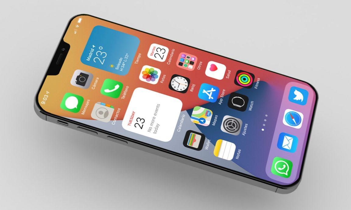 Posible diseño del iPhone 12