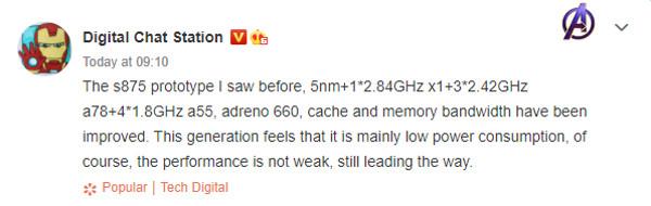 Primeras filtraciones del Snapdragon 875