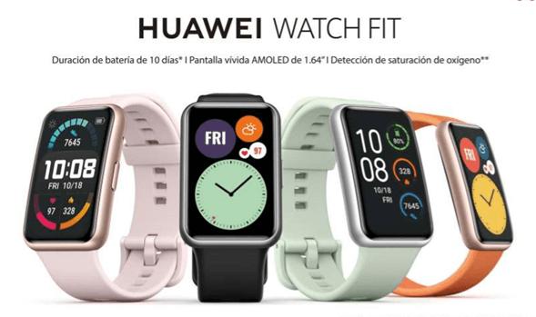 El nuevo HUAWEI WATCH FIT llega a Uruguay con un diseño único