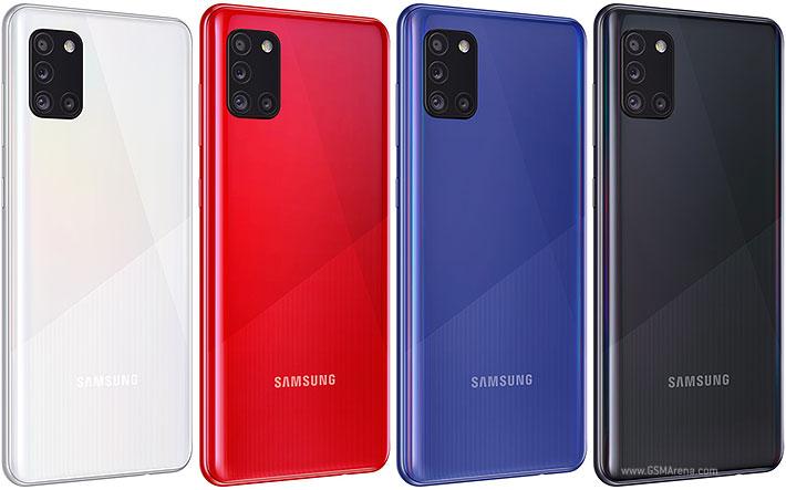 Samsung Galaxy A31 en sus diferentes colores