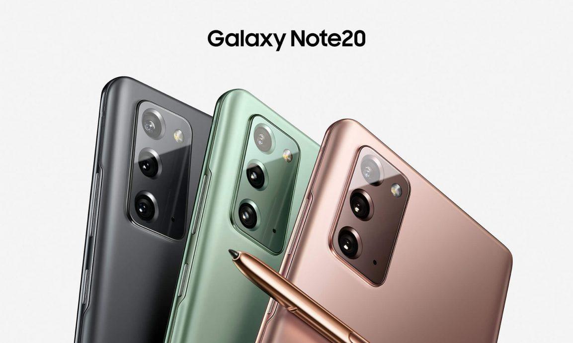 Samsung Galaxy Note 20 colores.