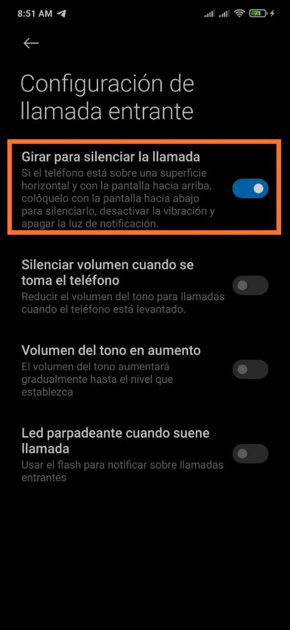 Como silenciar una llamada en tu móvil Xiaomi con un gesto