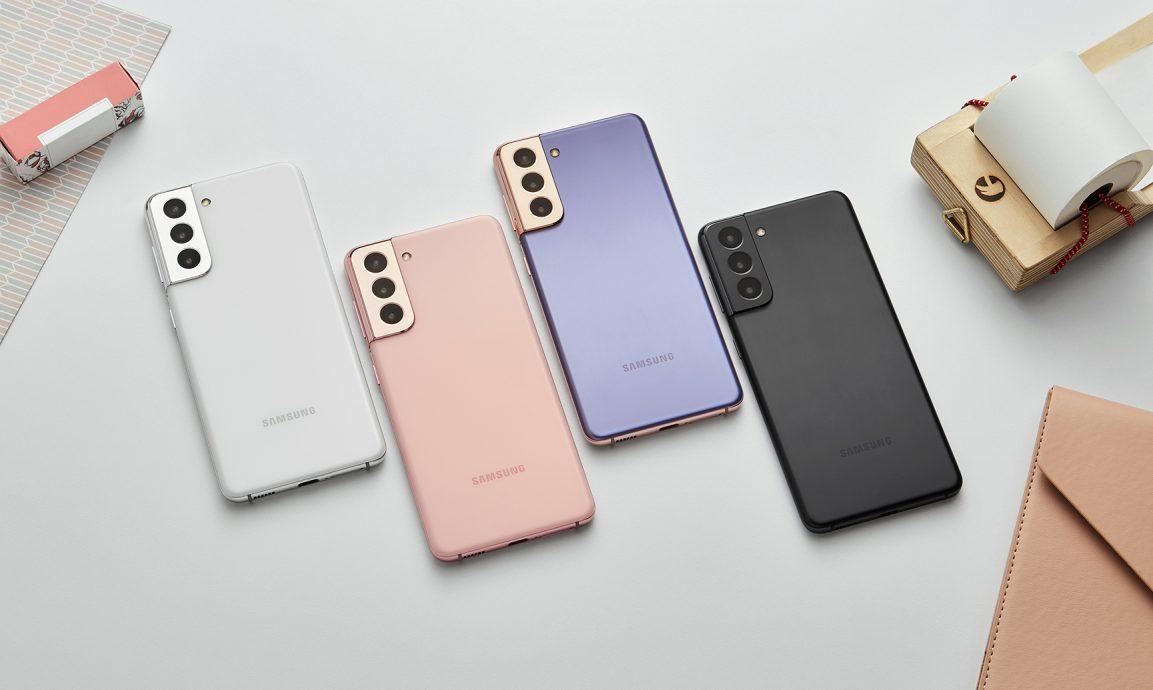 Samsung Galaxy S21 en todos sus colores.