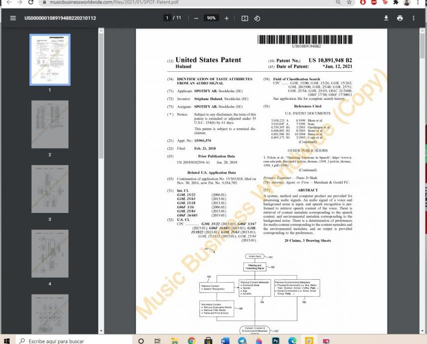 Spotify patente