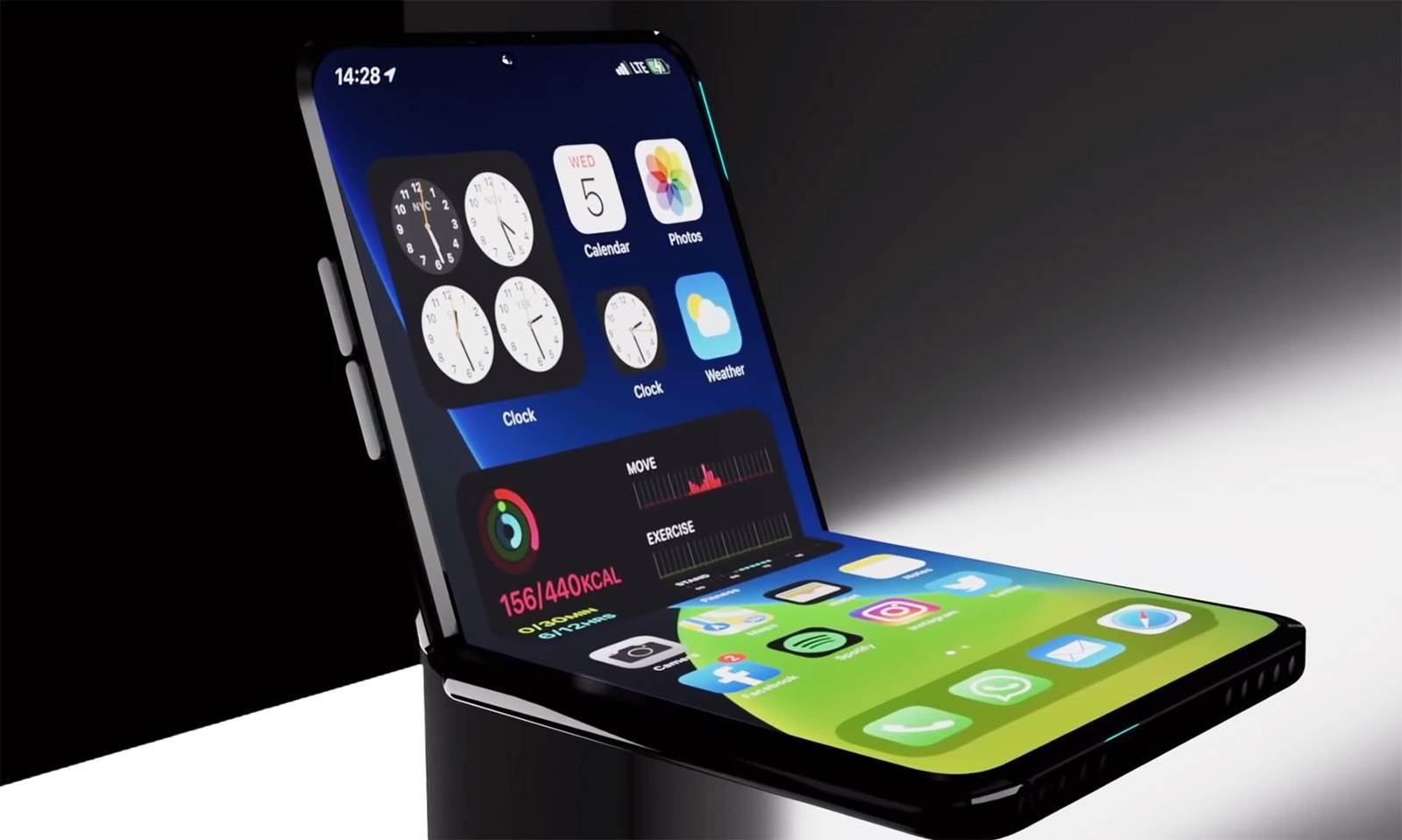 Nuevos detalles del iPhone plegable se han revelado, llegaría en 2022