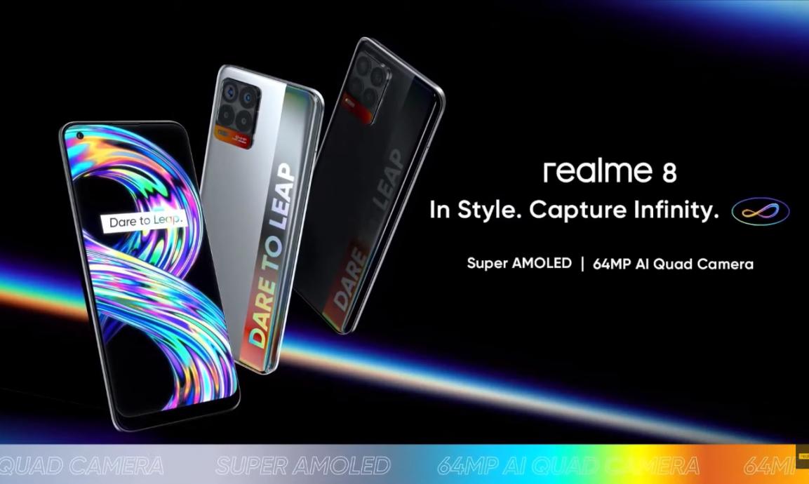 Lanzamiento del Realme 8 y 8 Pro: 108MP, AMOLED y carga muy rápida